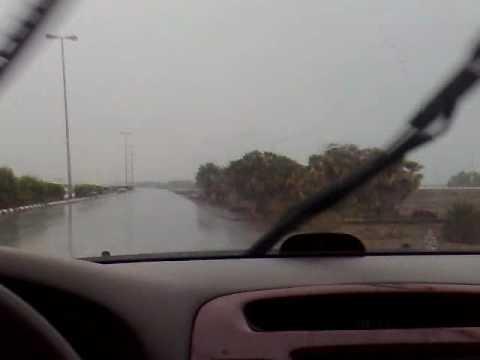 أمطار غزيرة على منطقة القحمة 2