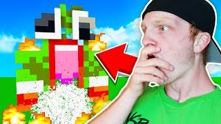 BREAKING A FANS MINECRAFT WORLD!