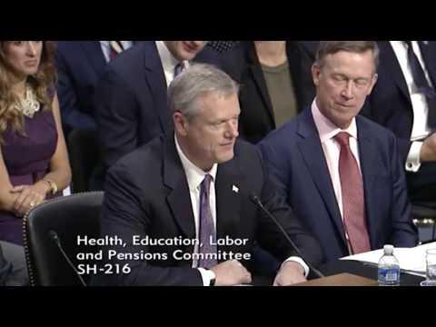 Governor Baker testifies before U.S. Senate HELP Committee on Health Care Reform