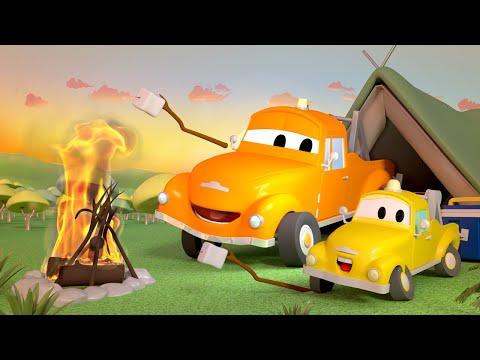 รถตำรวจสำหรับเด็ก  🚒 แค้มปิ้งมหาภัย ของทอม และเบบี้ ทอม 🚨 การ์ตูนรถตำรวจและรถดับเพลิงสำหรับเด็ก
