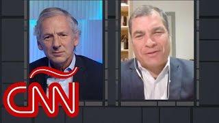 Rafael Correa habla de los procesos en su contra en Ecuador, en diálogo con Longobardi