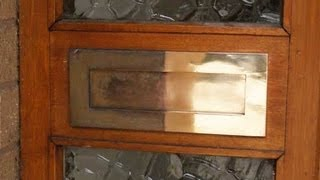 How to clean a Tarnished Brass Letterplate