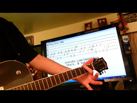 Guitar lessons online Metallica One tabs