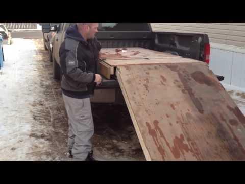 Homemade sled ramps