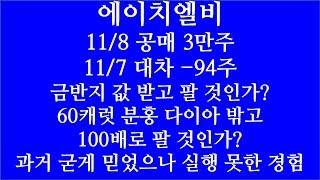 [주식투자]에이치엘비(11.8 공매3만주/11.7일 대…