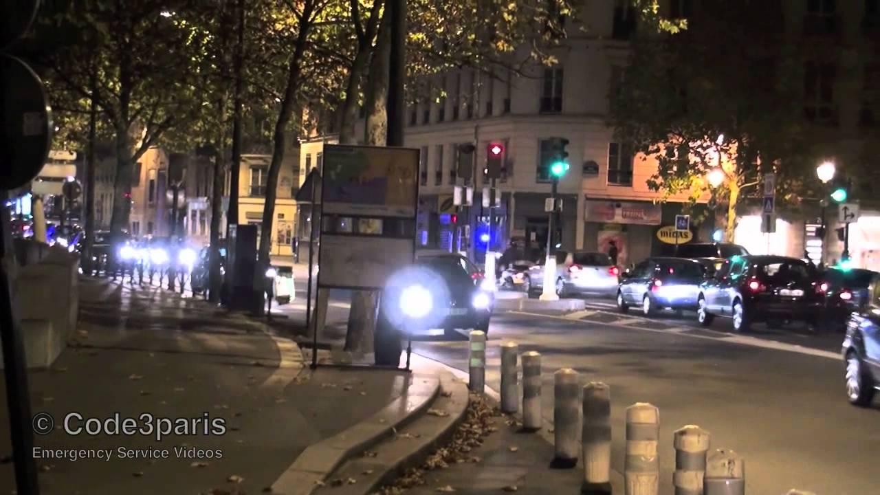Police Cars Responding Paris  // Voitures de police (compilation)