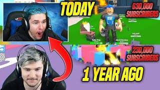 RUSSOPLAYS 2018 YOUTUBE YEAR REVIEW!! *REACTING TO OLD VIDEOS* (Roblox)