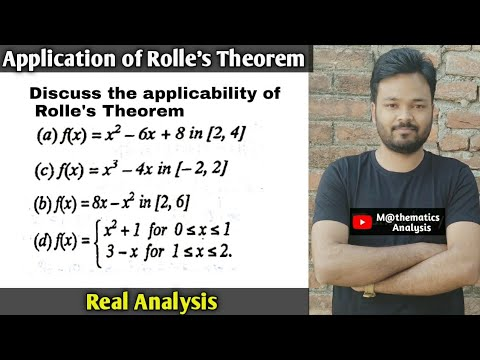 ROLLE'S THEOREM QUESTION | APPLICATION OF ROLLE'S THEOREM | PART - 1
