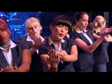 Pitch Perfect first performance the sign/eternal flame/turn the beat around