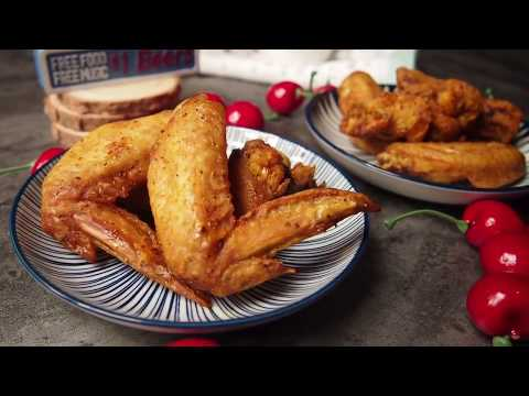 AIR-FRIED VS OVEN-BAKED CRUNCHY FRIED CHICKEN! Turmeric Chicken Wings