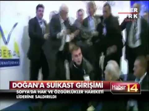 Ahmet Doğan'a saldırı anı kameralara böyle yansıdı!!!  Suikastçiyle burun buruna!