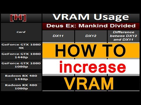 How to increase dedicated video ram memory without bios - new method