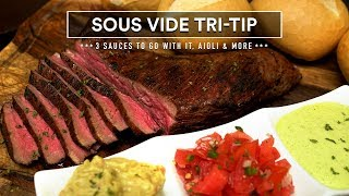 Sous Vide TRI-TIP Sandwich, Home-Made Aioli Sauce