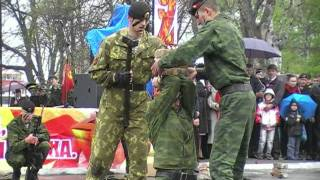 9 мая 2011 п.Славянка, Морская пехота.mp4