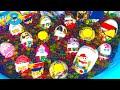20 Киндер Сюрпризов Unboxing Kinder Surprise Challenge Бассейн с разноцветными шариками Orbeez mp3