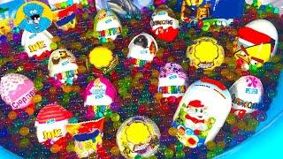 20 Киндер Сюрпризов,Unboxing Kinder Surprise Challenge Бассейн с разноцветными шариками Orbeez