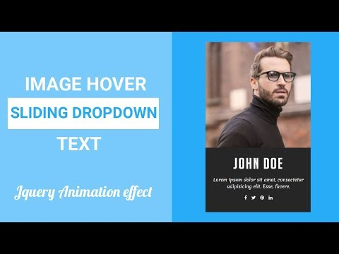 Image Hover with Sliding dropdown Text