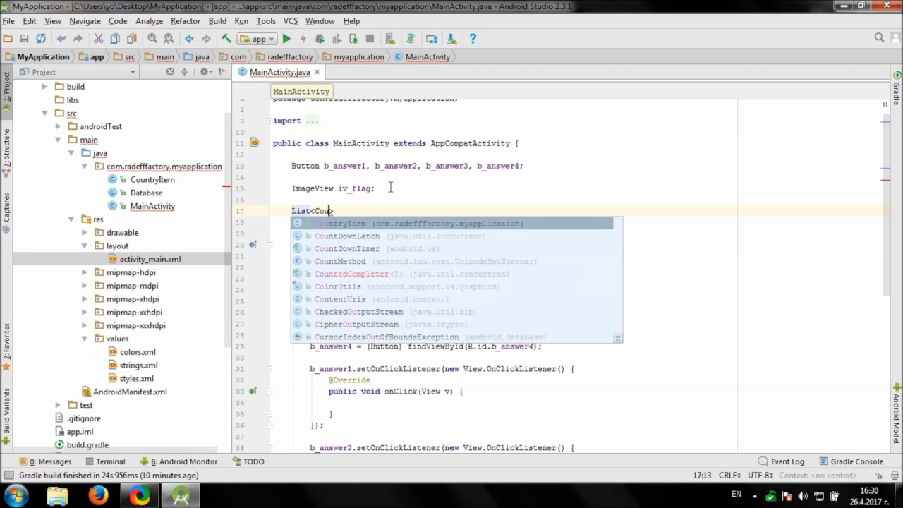 Develop TicTacToe game in Android Studio - YouTube