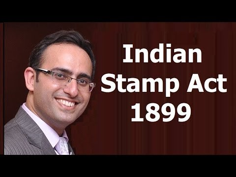 Stamp Act 1899 (Part-1)
