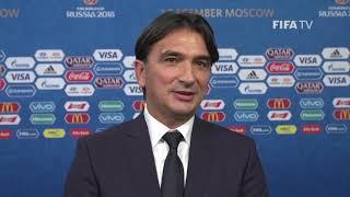 Zlatko DALIC – Croatia - Final Draw Reaction