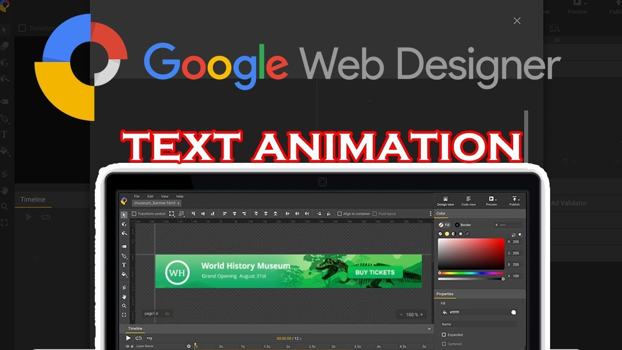 Google Web Designer Tutorial Make An Animated Web Banner Youtube