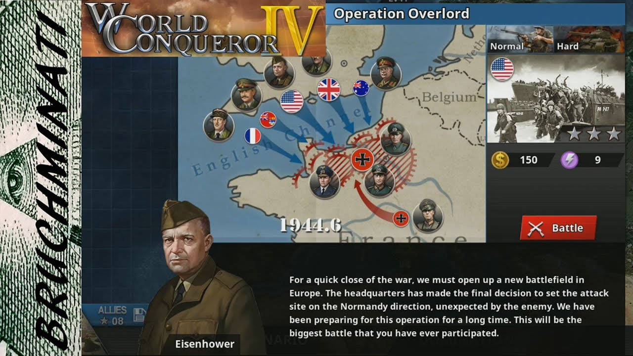 World Conqueror 4   Allies Campaign Operation Overlord #8 (No Generals)
