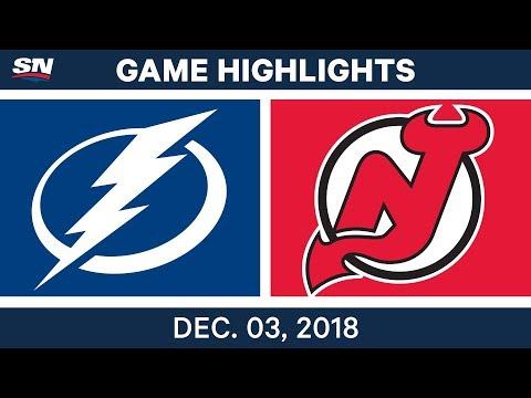 NHL Highlights | Lightning vs. Devils - Dec 3, 2018