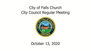 City Council Meeting October 13, 2020