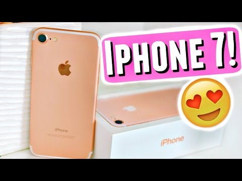 📱 WHAT'S ON MY IPHONE 7!😱 iPHONE 7 UNBOXING, REVIEW, + FIRST IMPRESSIONS!