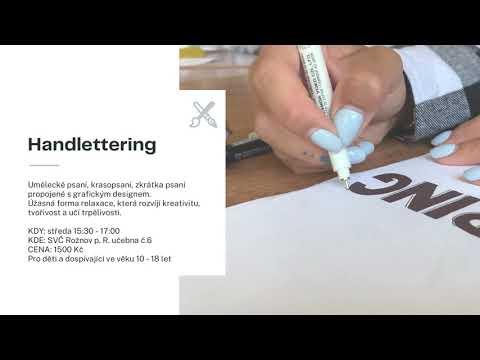 Handlettering - nově od září 2021 ve Středisku volného času Rožnov