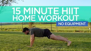 15 Minute HIIT Full Body | Home Workout | No equipment