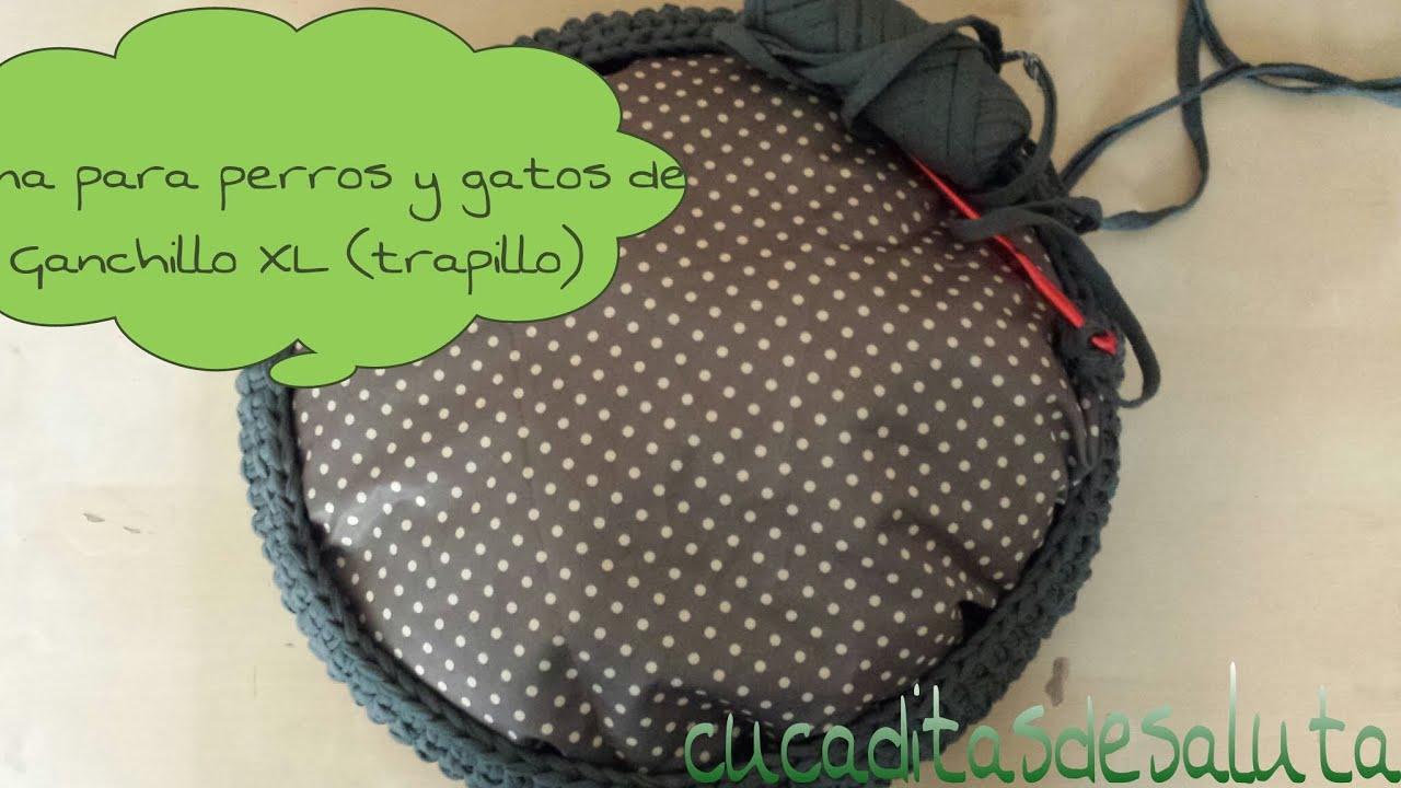 Cama de Trapillo XL ( perro o gato ) / Bedof Trapillo XL (dog or cat ...
