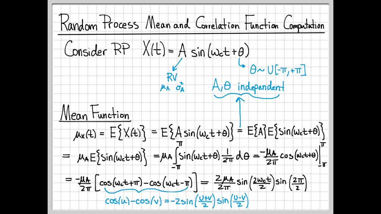 Random Processes - 04 - Mean and Autocorrelation Function Example