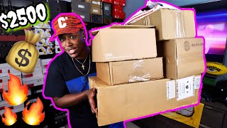 OVER $2500 WORTH OF PICKUPS FROM ADIDAS, OFF-WHITE, THE FAM, & MORE! 7 NEW BOXES!