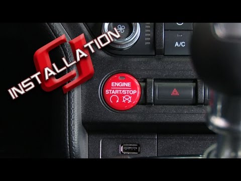 2015-2017 Mustang Ford Performance Red GT350/GT350R Push Button Start/Stop  Kit Installation