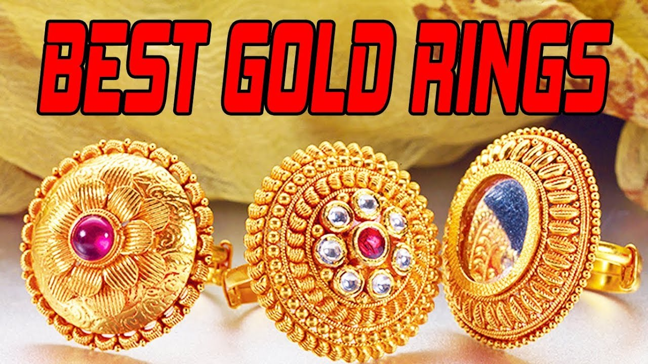 LATEST GOLD RING DESIGNS FOR GIRLS | GOLD RING FOR WOMEN WITH ...