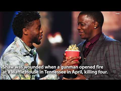 Chadwick Boseman Wins MTV Best Hero Award, Gives it to Real-Life Hero