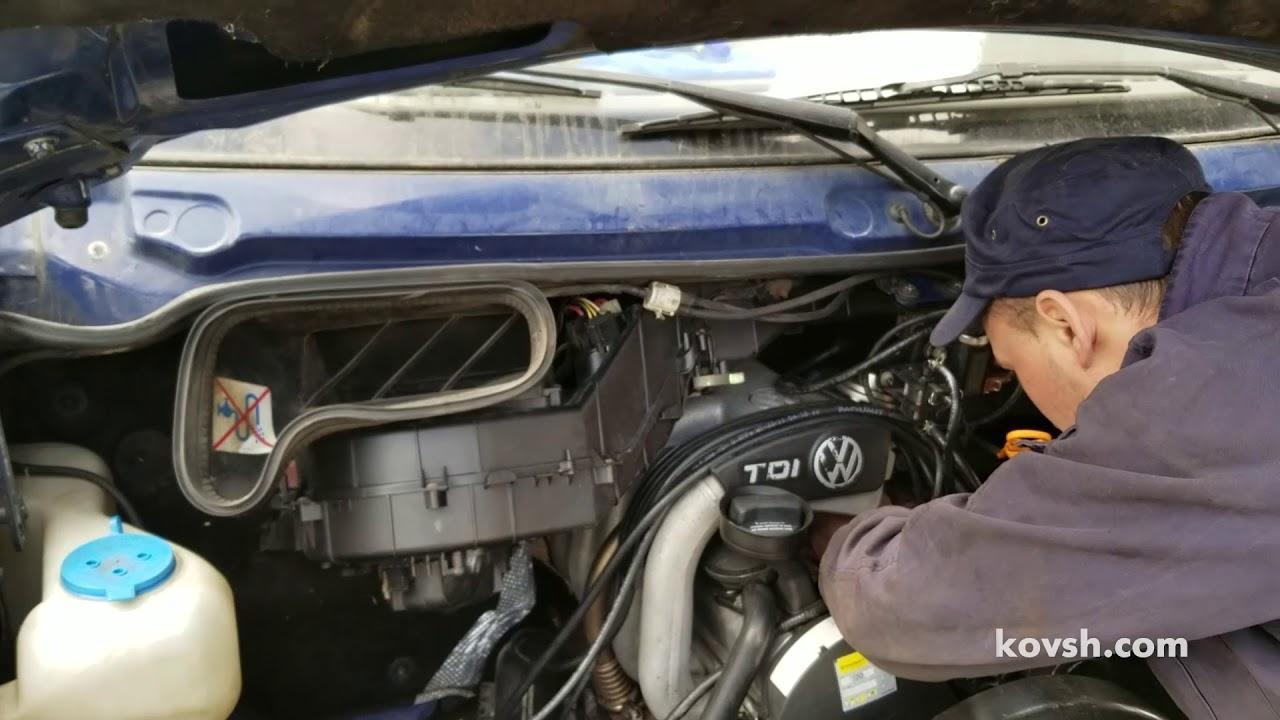 Как быстро определить причину дымления: турбина или двигатель, Volkswagen LT II 2.5d, ACV