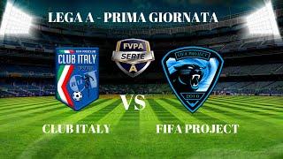 fifa16 proclub 1 giornata serie a fvpa club italy vs fifa project