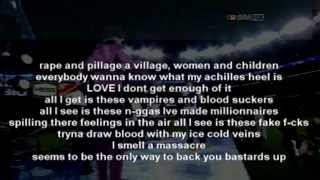 "Kanye West ""Monster"" ft. Jay Z, Nicki Minaj, Rick Ross & Bon Iver (Lyrics On Screen)"