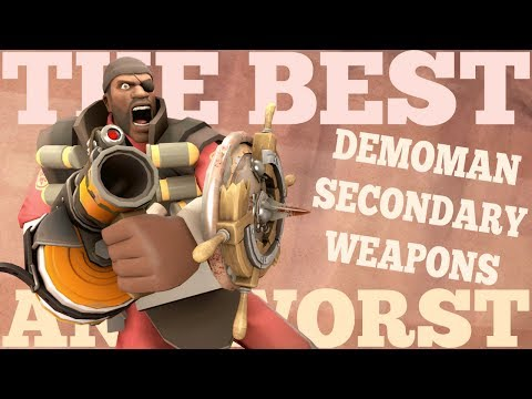 The Best and Worst: TF2 Demoman Secondary Weapons
