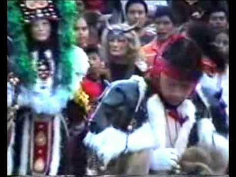 Baile de disfrases en el Municipio de Aguacatan, Huehuetenango