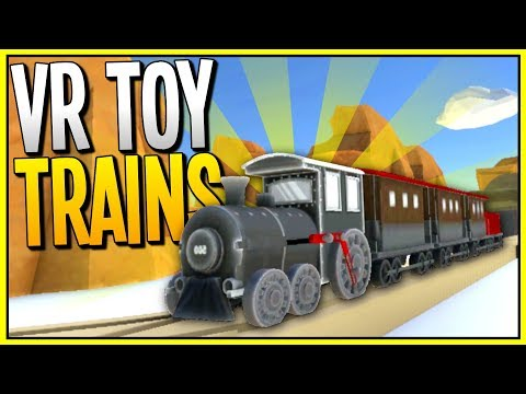 BUILDING AMAZING TOY TRAIN TOWNS - Train Building VR Game - TrainerVR Gameplay - VR HTC Vive