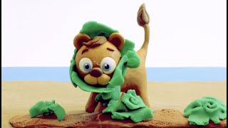 Lion & Lettuge Stop motion cartoon for children - BabyClay