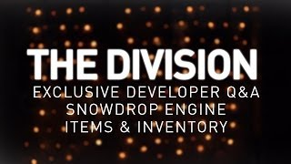 Hype Tank! ► The Division! Dev Gameplay Q&A, Snowdrop Engine, New Items