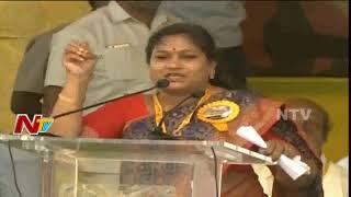 TDP Leader Anitha Speech @ Dharma Porata Deeksha || AP Special Status || Vizag || NTV