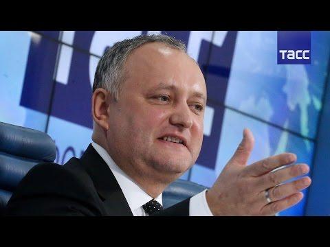 Пресс-конференция президента Молдавии
