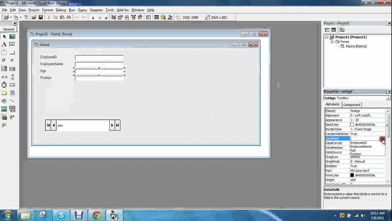 visual basic connection to ms access