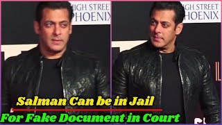 Salman Khan in Legal Problem For Submitting Fake Documents in Court