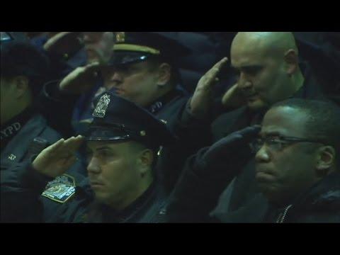 Gunman kills New York police officers in 'revenge attack' | Channel 4 News